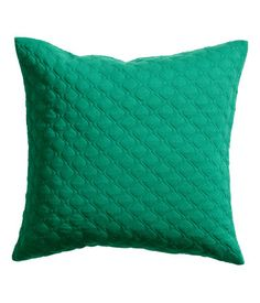 Quilted cushion cover in jersey with a concealed zip. Size 20 x 20 in.
