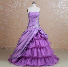 2017 Purple Tube Top Sleeveless Prom Dresses Fashion