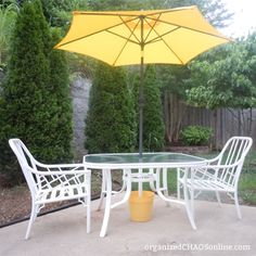 Make Your Own Outdoor Umbrella Base For Cheaaap!