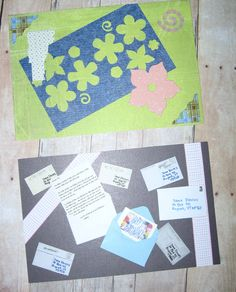 Close-ups of my handmade postcards for the Rupert, Vermont Post Office.