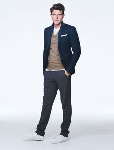 The blazer with casual pants? White is simple with neutrals. Diggin it.
