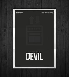 Semi-minimal movie poster of Devil by Rubenski Gooljar