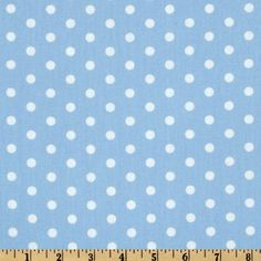 Pimatex Basics Polka Dot Pale Blue/White from @fabricdotcom  From Robert Kaufman Fabrics, this cotton print fabric is perfect for quilts, home décor accents, craft projects and apparel.   Fabric features white polka dots tossed on a pale blue background.
