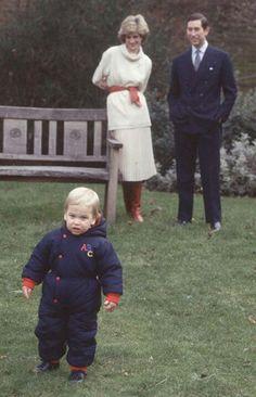 Prince William,  Princess Diana & Prince Charles