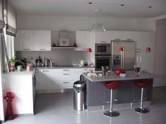 Kitchen Decoration White Grey Spacious France listed in: