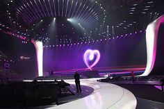 Behind the scenes at the arena in Düsseldorf for the 2011 Eurovision Song Contest