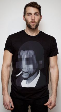 Great President Barack Obama t-shirt design from #simplifiedclothing. Really captures some of the cool factor the man has. Not sure why, but the blurgle effect on the eyes, enhances that.