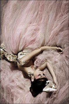 saia de tule rosa