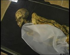 """Remains: A dying Siberian maiden who lived 2,500 years ago may have self-medicated with marijuana. Russian scientists using MRI scans determined that the #mummified and tattooed body of the """"Ice Princess"""" showed breast cancer. In addition, scans found evidence of injuries consistent with a fall ---perhaps from a horse. To cope with the pain she must have been experiencing, the princess could have resorted to cannibis---which was found alongside the #mummy in her burial chamber."""