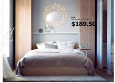 IKEA - way to try out built in wardrobes/closets or storage around the bed before spending tons of money on the real deal.