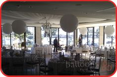 3ft Balloons set as table arrangements for wedding