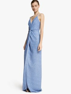 Halston Heritage D Sequined Gown Evening Gowns Sequins Chiffon