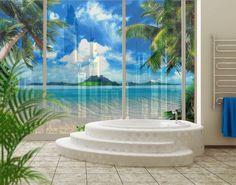 Fensterfolie - XXL Fensterbild Traumurlaub - Fenster Sichtschutz