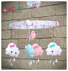 1 million+ Stunning Free Images to Use Anywhere Baby Crafts, Felt Crafts, Diy And Crafts, Baby Mobile Felt, Baby Crib Mobile, Sewing Projects, Projects To Try, Felt Decorations, Felt Dolls