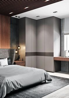 Bedroom ideas, goal number 1871842122 - see this straight-forward classy space. Wardrobe Design Bedroom, Bedroom Furniture Design, Modern Bedroom Design, Small Room Bedroom, Master Bedroom Design, Contemporary Bedroom, Home Decor Bedroom, Bedroom Ideas, Hotel Room Design