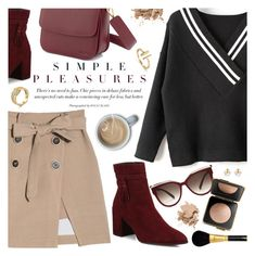 """Simple Pleasures"" by metisu-fashion ❤ liked on Polyvore featuring MCM, Stuart Weitzman, Bobbi Brown Cosmetics, Sisley and Estée Lauder"