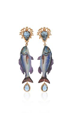 Fish Earrings by DOLCE & GABBANA for Preorder on Moda Operandi
