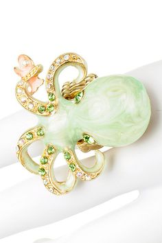 baby octopus ring..(with a fresh pink catch)