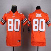 cleveland browns 80 dwayne bowe orange elite jersey