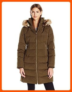 Larry Levine Womens Hooded 34 Length Down Filled Coat Black Medium ...