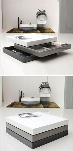 Hidden drawers coffee table