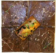 Can Art  Michael Craig Carrier  Ecological Trash Assemblage Artist  Rusted Painted Can Series 2010  *Private Collection*