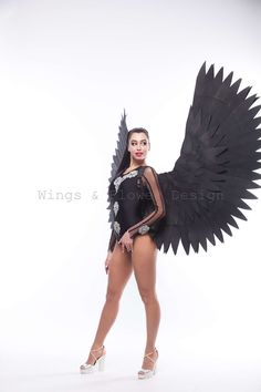 Black Angel Wings, Black Angels, Ballet Skirt, Trending Outfits, Unique Jewelry, Wedding, Clothes, Vintage, Etsy