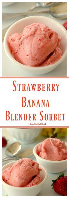 Strawberry Banana Blender Sorbet