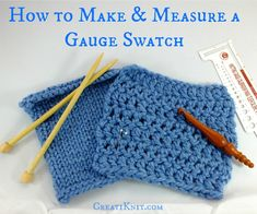 How to Make, and Measure a Crocheted Gauge Swatch : 11 Steps (with Pictures) - Instructables Knit Or Crochet, Learn To Crochet, Crochet Stitches, Crotchet, Beginner Knitting Patterns, Crochet Patterns For Beginners, Crochet Tutorials, Knitting Gauge, Loom Knitting