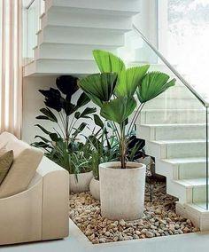 Staircase Interior Design, Home Stairs Design, Dream Home Design, Home Interior Design, Living Room Themes, Living Room Designs, Minimal House Design, Interior Garden, House Stairs