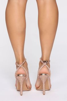 Crossing You Heeled Sandals - Rose Gold – Fashion Nova Rose Gold Heels Wedding, Rose Gold Shoes Heels, Silver Block Heel Sandals, Rose Gold Block Heels, Stiletto Heels, Gold Bridesmaid Shoes, Prom Heels, Sexy Heels, Zapatos Shoes