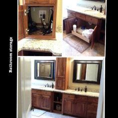 Bathroom: pull out drawer and appliance garage with outlet.  Blowdryer storage. Under sink storage.