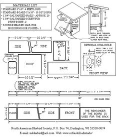 Plans for eastern bluebird house House design plans