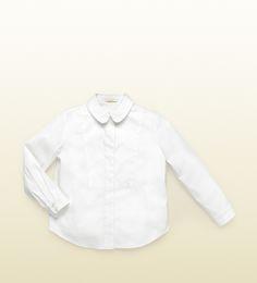 Gucci  chemise boutonnée en popeline blanche
