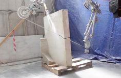 This Robotic Arm Can Cut Marble Into Unique Freeform Shapes