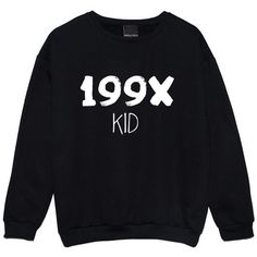 199x Kid Sweater Jumper Funny Fun Tumblr Hipster Swag Grunge Kale Goth... (91 RON) ❤ liked on Polyvore featuring tops, retro tops, hipster tops, black top, punk tops and gothic tops