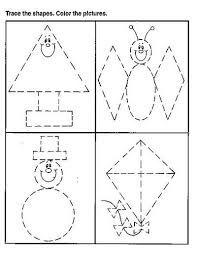 dibujos con figuras geometricas de paisajes dificiles  Buscar con