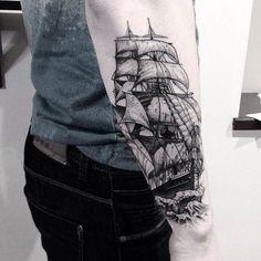 puntos tatuajes de barcos