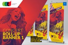 Check out Concert - Roll-Up Banner 1 by Cooledition on Creative Market