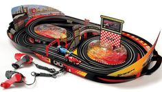 I love this! Race in a case.  Easy to pull out and no set up required.