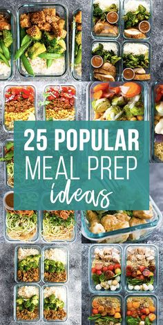 These 25 lunch meal prep ideas prove that eating healthy can be delicious and is anything but boring! A little prep work on the weekend will set you up to eat healthier, save money, and reduce your stress through the week.