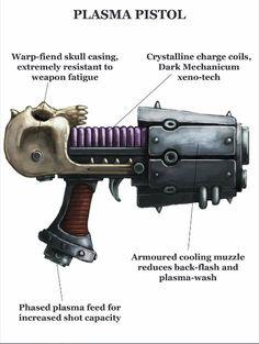 Khârn's master-crafted, ancient pattern Plasma Pistol.