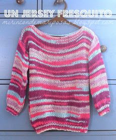 Un jersey fresquito (tutorial) Jumper Patterns, Baby Knitting Patterns, Cozy Sweaters, Sweaters For Women, Tricot Baby, Crochet Clothes, Diy Fashion, Free Pattern, Knit Crochet