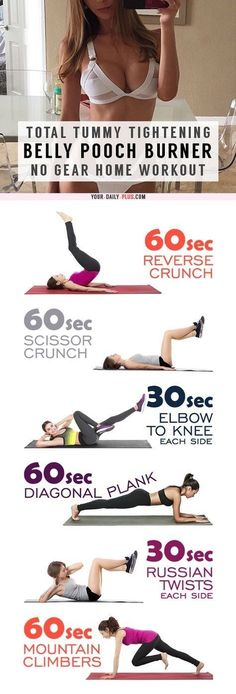 Belly Fat Workout - This killer tummy-cinching routine works magic on muffin tops and that soft belly pooch and will leave your tummy tight and toned in two weeks! Do This One Unusual 10-Minute Trick Before Work To Melt Away 15  Pounds of Belly Fat