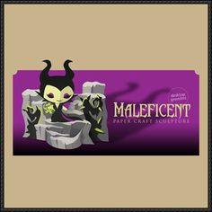 Disney Maleficent Free Papercraft Download - http://www.papercraftsquare.com/disney-maleficent-free-papercraft-download.html