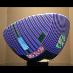 Blue Shadow Jazz, by Doug Randall. Fused glass…