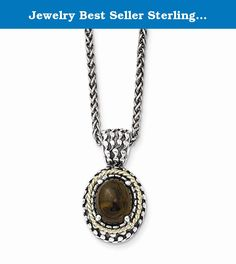 Jewelry Best Seller Sterling Silver w/14k Antiqued Smoky Quartz Necklace. Sterling Silver w/14k Antiqued Smoky Quartz Necklace Polished - Antique finish - Genuine - Lobster - Sterling silver - Prong set - Smokey quartz - Cabochon - 18 chain - 14K Gold Accent Size: 0 Length: 18 Weight: 5.18 Jewelry item comes with a FREE gift box. Re-sized or altered items are not subject for a return. Sterling Silver w/14k Antiqued Smoky Quartz Necklace Product Type:Jewelry Jewelry Type:Necklaces…