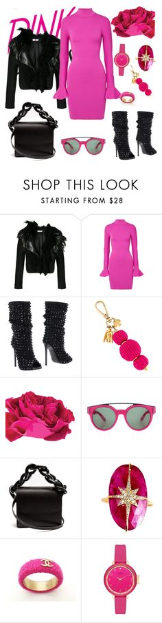 """Pink"" by b-nieves ❤ liked on Polyvore featuring Lanvin, MICHAEL Michael Kors, Philipp Plein, Kate Spade, Givenchy, Marques'Almeida, Nush and Chanel"