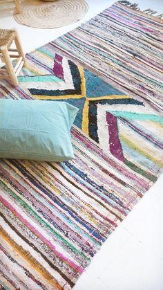 Kilim marocain Vintage tapis BOUCHEROUITE par lacasadecoto