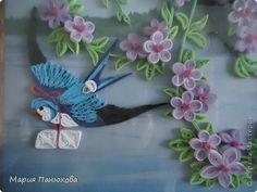 Love the swallow.  Картина, панно Квиллинг: Ласточки Бумага Свадьба. Фото 3